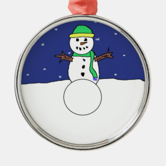 Cartoon Snowman ornament