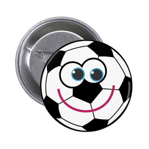 Cartoon Soccer Ball Pin