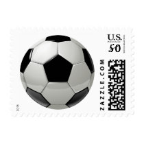 Cartoon Soccer Ball Sports Stamp