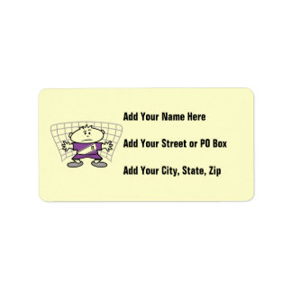 Cartoon Soccer Goalie Tshirts and Gifts Address Label