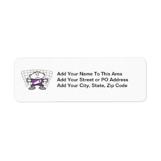 Cartoon Soccer Goalie Tshirts and Gifts Return Address Label