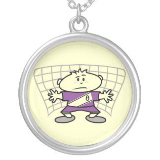 Cartoon Soccer Goalie Tshirts and Gifts Custom Necklace