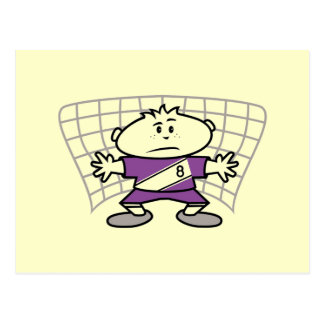 Cartoon Soccer Goalie Tshirts and Gifts Postcard