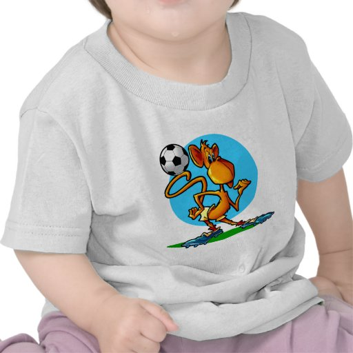 Cartoon Soccer Monkey T-shirt
