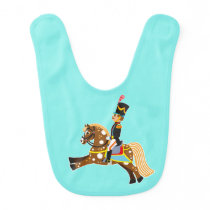 cartoon soldier baby bib