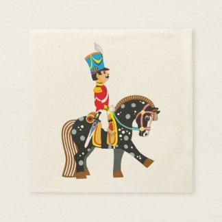 cartoon soldier paper napkin