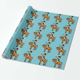 cartoon soldier wrapping paper