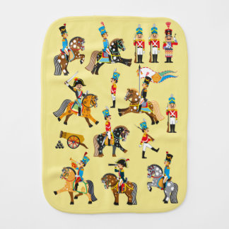 cartoon soldiers burp cloth