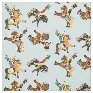cartoon soldiers fabric