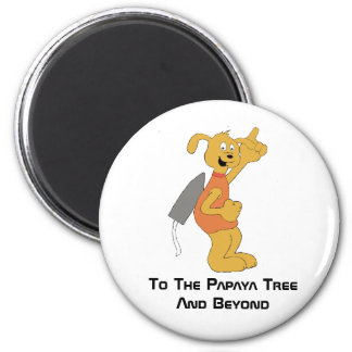 Cartoon Space Dog 2 Inch Round Magnet