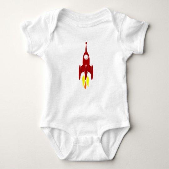 Cartoon Space Rocket Baby Bodysuit