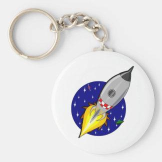 Cartoon Space Rocket Keychain