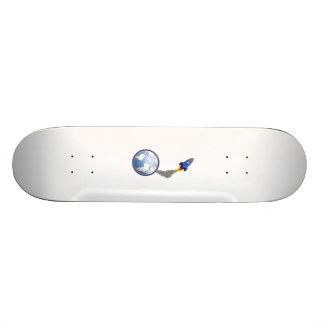 Cartoon Space Rocket Skateboard