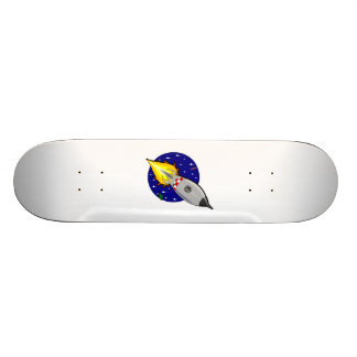 Cartoon Space Rocket Skateboard Deck