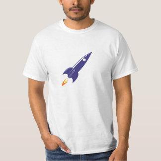 Cartoon Space Rocket T-Shirt