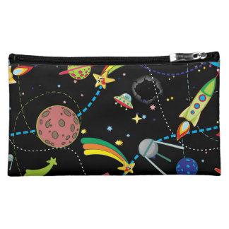 Cartoon Space Scene Makeup Bag