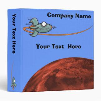 Cartoon Space Ship Alien Planet Binder