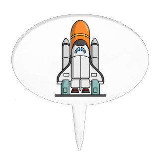 Cartoon Space Shuttle Cake Topper