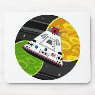 Cartoon Space Shuttle Capsule Mouse Pad