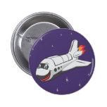 Cartoon Space Shuttle Pins