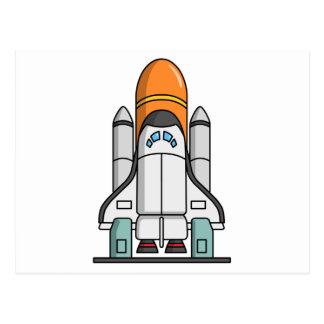 Cartoon Space Shuttle Postcard