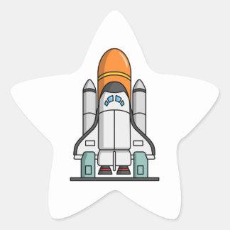 Cartoon Space Shuttle Stickers