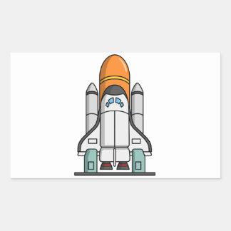 Cartoon Space Shuttle Sticker