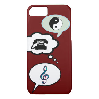 cartoon speech balloons iPhone 7 case