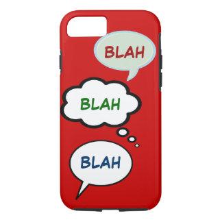 cartoon speech balloons with BLAH iPhone 7 Case