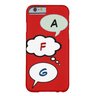 cartoon speech balloons with initials barely there iPhone 6 case