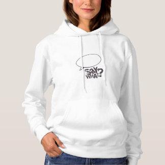 Cartoon speech bubble sweat shirt WHITE