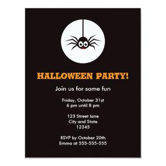 Cartoon spider Halloween party invite