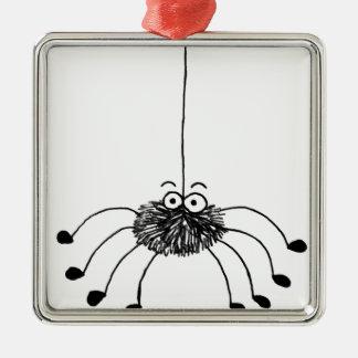 Cartoon Spider Metal Ornament