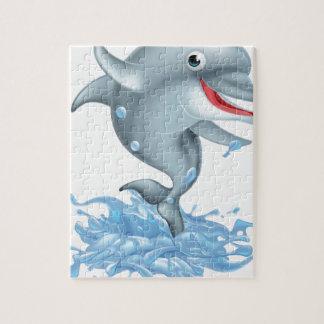 Cartoon Splashing Dolphin Jigsaw Puzzle