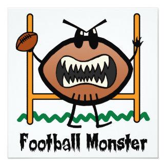 Cartoon Sports Clip Art Angry Mad Football Monster Card