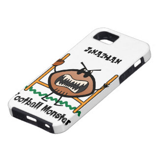 Cartoon Sports Clip Art Angry Mad Football Monster iPhone 5 Cover