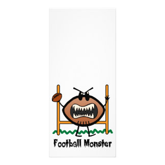 Cartoon Sports Clip Art Angry Mad Football Monster Rack Card