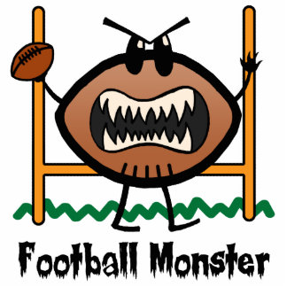 Cartoon Sports Clip Art Angry Mad Football Monster Statuette