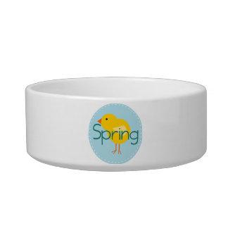 Cartoon Spring Bird Pet Food Bowls