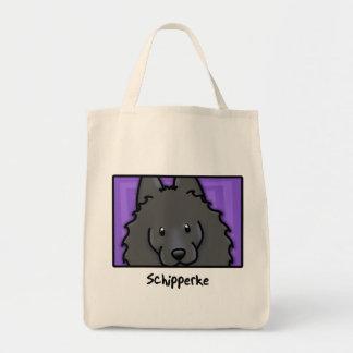 Cartoon Square Schipperke Tote Bag