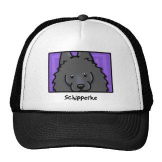 Cartoon Square Schipperke Trucker Hat
