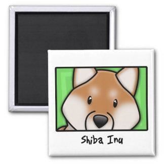 Cartoon Square Shiba Inu Magnet