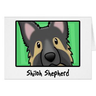 Cartoon Square Shiloh Shepherd Greeting Card