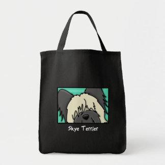 Cartoon Square Skye Terrier Tote Bag