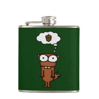 Cartoon Squirrel Hip Flasks