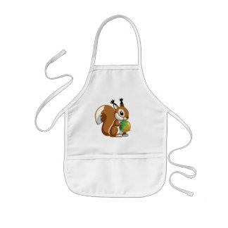cartoon squirrel kids' apron