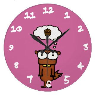 Cartoon Squirrel Large Clock