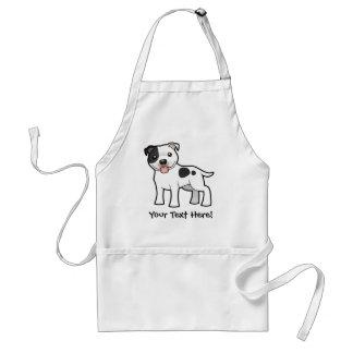 Cartoon Staffordshire Bull Terrier Adult Apron