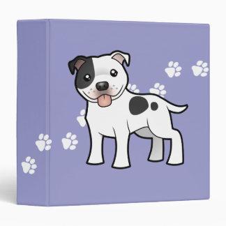 Cartoon Staffordshire Bull Terrier Binder