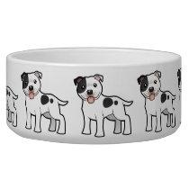 Cartoon Staffordshire Bull Terrier Bowl